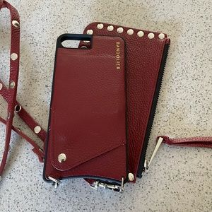 Bandolier Red iPhone6/7/8+ case & zipper pouch